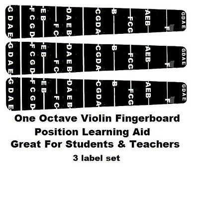 Sports & Entertainment 10 Pieces 1/4 Violin Beginners Students Fingerboard Position Sticker Finger Chart Musical Instruments