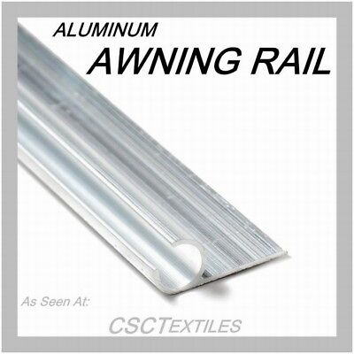 """AWNING RAIL ALUMINUM ( 96""""L/pcs x 6 = 48ft) For Awnings~Trailer~Tonno~Canvas~RV"""
