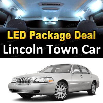 Interior Lights Lincoln Town Car (14x White LED Lights Interior Package Deal For 2004 - 2006 2007 Lincoln Town)