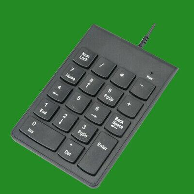 USB Teclado Numérico 17 Llaves Almohadilla Con Cable Para Ordenador PC