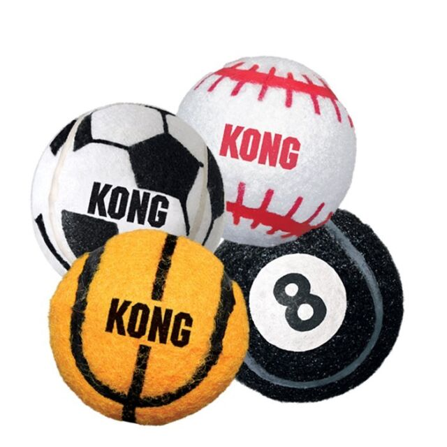 Kong Sports Ball Assorted Medium (3 pack) Dog Toy