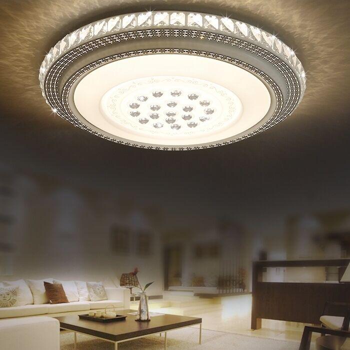 dimmbar kristall deckenleuchte design led schlafzimmer. Black Bedroom Furniture Sets. Home Design Ideas