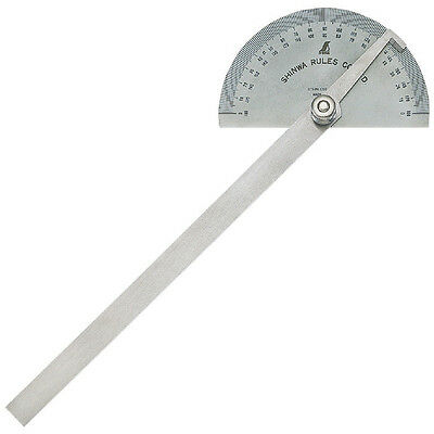 Japanese Shinwa Precision Protractor Scale Width 120mm Chrome Plated