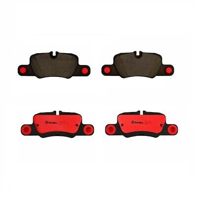 Rear Brake Pad Set Ceramic & Lube Brembo P65020N for Porsche 911 Carrera 4S ()