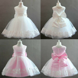 Wedding-Bridesmaid-Flower-Girl-Party-Baby-Communion-Occasion-Dresses-Age-1-9-Yrs