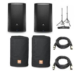 ** A NE PAS MANQUER** JBL PRX812W PACKAGE + COVERS + CABLE + STANDS