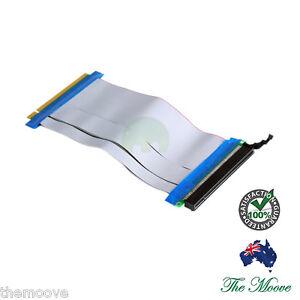 PCI-E PCI-Express 16X Riser Card Flex Flexible Ribbon Extender Extension Cable