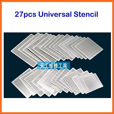 170pcs Bga Directly Heat Reballing Universal Stencils With Template Jig For S