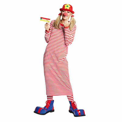 Damen Kostüm Rivel-Shirt rot-weiß Köln Zirkus Clown Ringelshirt