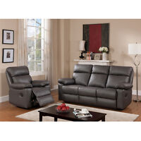 Contemporary LEATHER RECLINING Chair, Loveseat, Sofa, Sectional