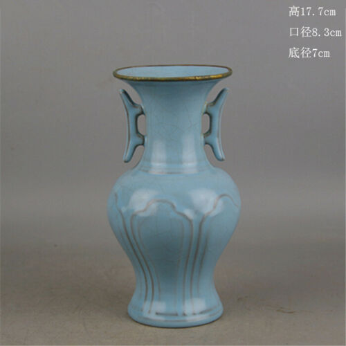Chinese Antique Song Dynasty Ru Kiln Porcelain Two Ear Vase