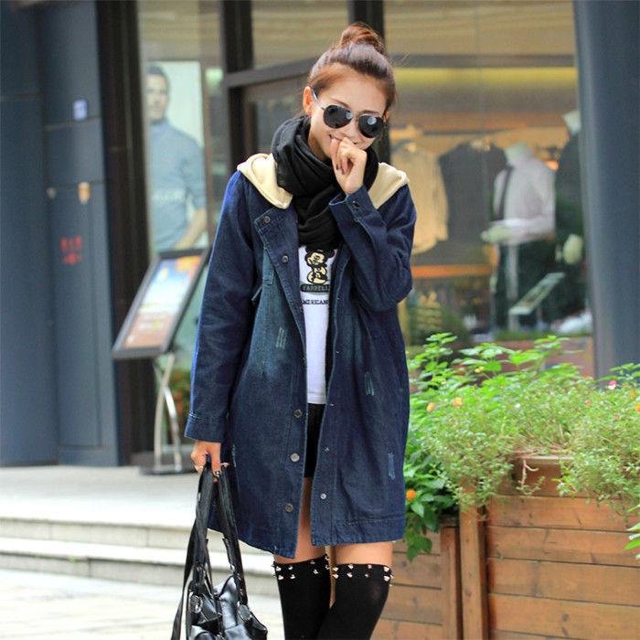 Women's Denim Cowboy Hooded Jacket