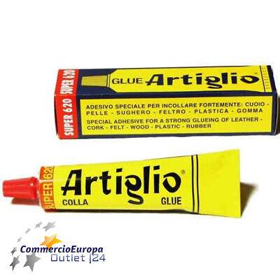COLLA ADESIVO MASTICE ARTIGLIO per LEGNO GOMMA CUOIO PVC TESSUTI 75gr Stock