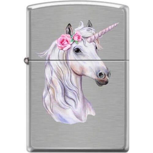 Zippo Lighter - Unicorn w/ Rose Brushed Chrome - 854756
