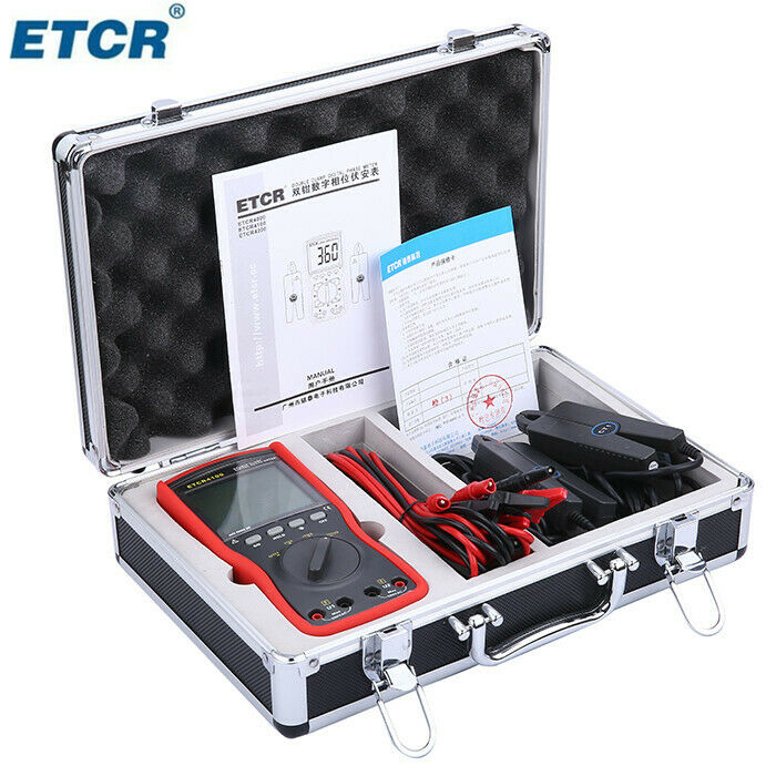 Top Quality ETCR4100 Double Clamp Digital Phase Meter ETCR-4100