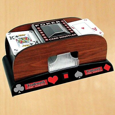 Trademark Poker 1 - 2 Deck Wooden Laminate Card Shuffler