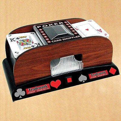 Trademark Poker 1 - 2 Deck Wooden Laminate Card Shuffler