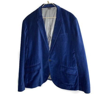 Armani Exchange A|X $200 Men's 4 button Velvet Blazer Jacket Sportsman XL
