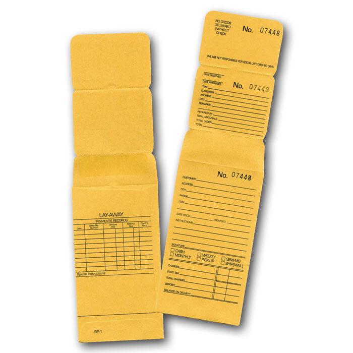 Jewelry Layaway Envelope 3-part Repair Envelopes Kraft Layaway ~1000~ Envelopes