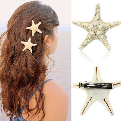 Hot Europe Fashion Women Lady Girls Pretty Natural Starfish Star Beige Hair mt