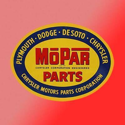 Car Parts - Mopar Parts Division Vinyl Decal Sticker Car Dodge Charger Challenger Vintage