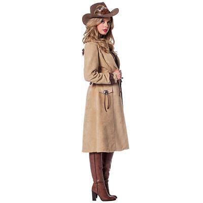 Damen-Kostüm Cowgirl Mantel de Luxe Wilder Westen Cowgirlkostüm    (Kostüme De Lux)