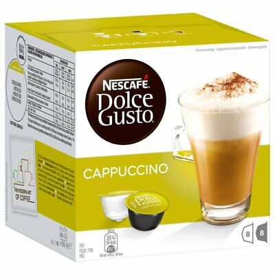 Nescafe Dolce Gusto Cappuccino 16 Pods 8 Servings - Coffe from Germany