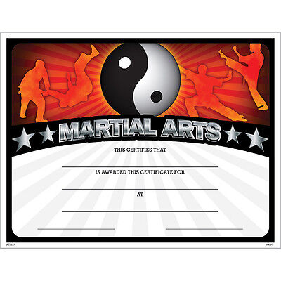 Martial Arts Award Certificate, Pack of 15](Certificate Of Award)