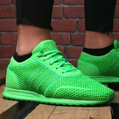 Adidas LOS ANGELES Damen Sneaker Canvas Schuhe Kinder LA Trainer Shoes grün NEU - Adidas Canvas Schuhe