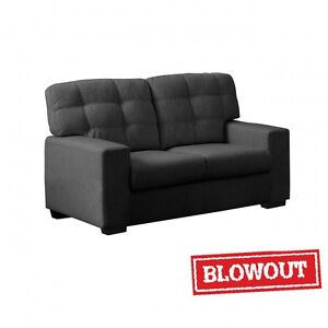 Tufted Back Rest Love Seat -Available in Dark Grey or Dark Brown