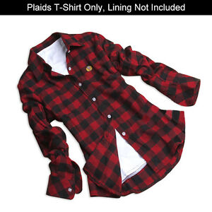 Women Plaids & Checks Flannel Cotton Button Down Lapel Tops Blouse Casual Shirt