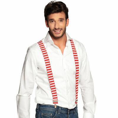 Hosenträger rot-weiß ideal für Freizeit und Karnevalskostüme ()