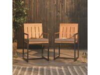Acacia Manchester Set of 2 Chairs (2 x sets available) selling at £125 BNIB