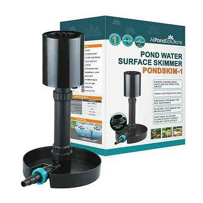 Adjustable Standing Koi Fish Pond Water Surface Skimmer Removes Leaves / Debris
