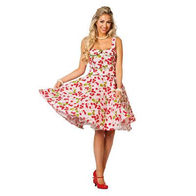 Damen-Kostüm Kleid Rock'n'Roll Cherry Rockabilly Rock n Roll - Damen Rock N Roll Kostüme