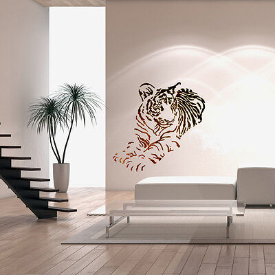 Wall Stencils For DIY Decor Rooms Kids Template Tiger Animal Large size