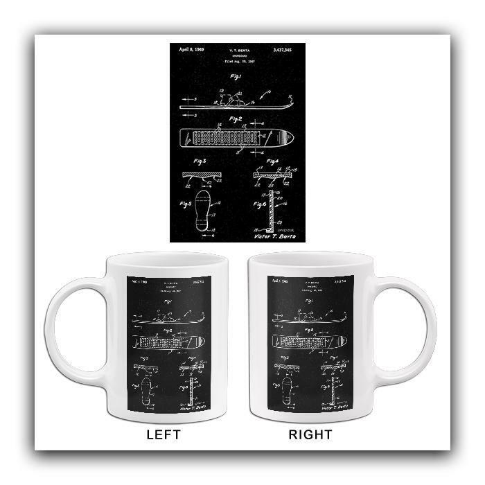 1969 - Snowboard - V. T. Berta - Patent Art Mug