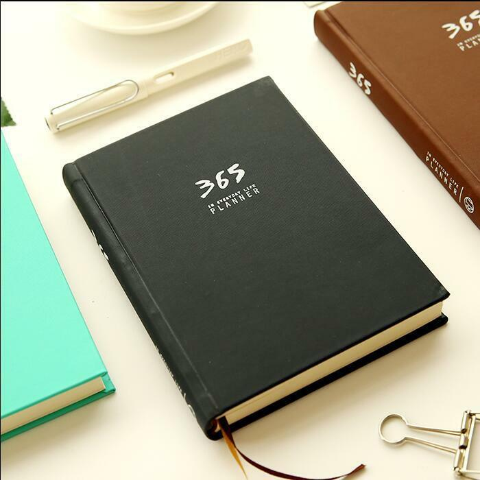 """365 Planner"" 1pc Hard Cover Monthly Planner Agenda Daily Plan Diary Notebook"