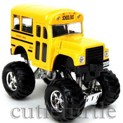 Big Foot Monster Short School Bus Truck 4X4 4  Yellow