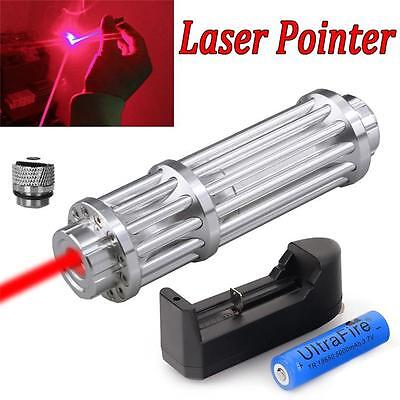 Military 1W 650nm Red Laser Pointer Pen Powerful Beam Light Zoom Focus 18650 USA