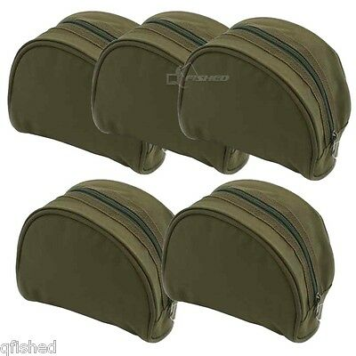 5 X New Green Fishing Reel Cases For Coarse Carp Fishing Reels Tackle NGT