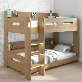 Brand New Sky Bunk Bed in Oak - Ladder Can Be Fitted Either Side!