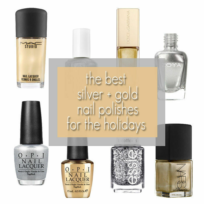 Best Silver + Gold Nail Polish for the Holidays