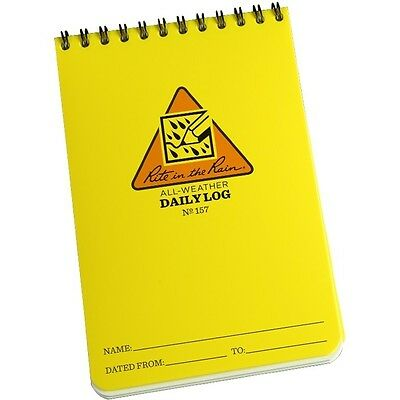 Rite In The Rain 157 All-weather Daily Log Notebook 4 X 6
