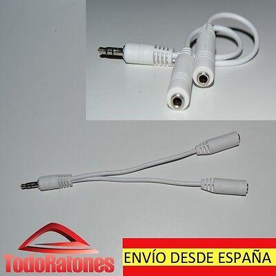 Cable adaptador duplicador Jack Estereo para bq, apple, iphone, samsung, MI, THL