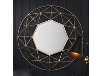 New Larger Andromeda gold round feature mirror Large £139 Small £69