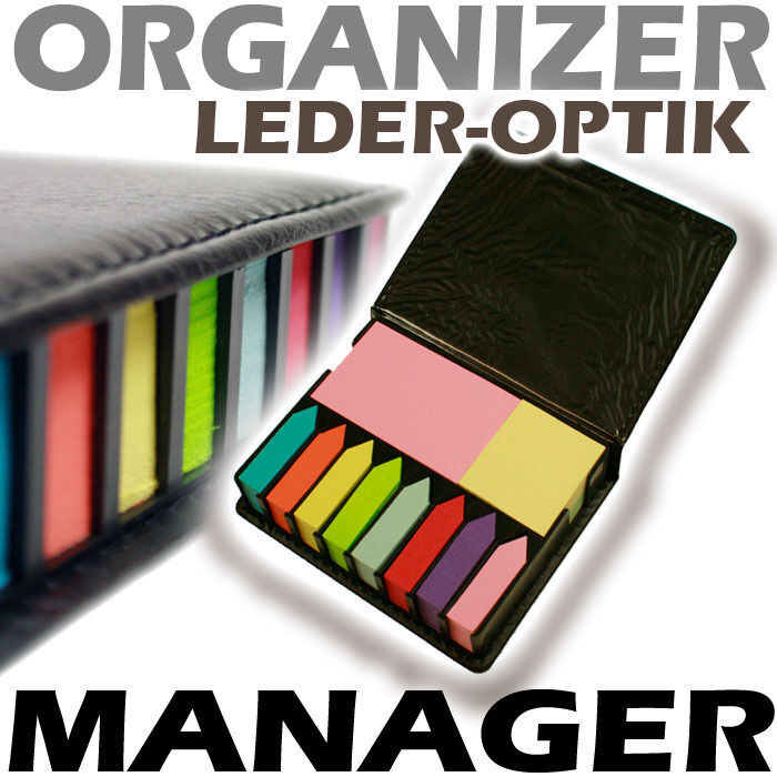 Haftnotizblock Manager - Haftnotiz Leder Organizer TOP