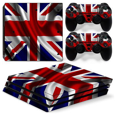 Sony PS4 PlayStation 4 Pro Skin Sticker Screen Protector Set - Union Jack 2