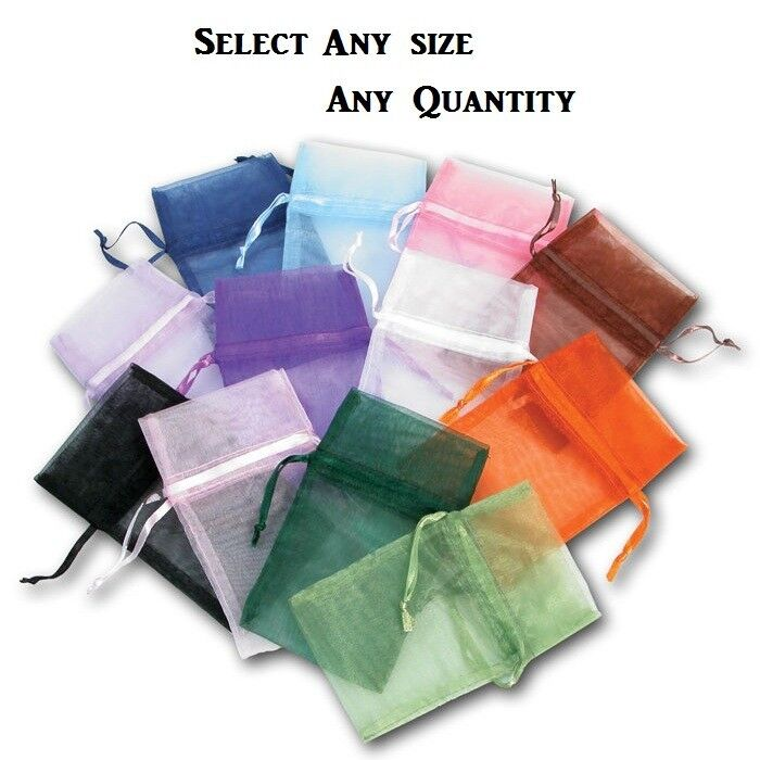 Organza Gift Pouches Jewelry Drawstring Gift Pouches Drawstring Bags 12~84~144