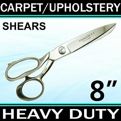 """8"""" HEAVY DUTY CARPET / UPHOLSTERY SHEARS TAILOR SCISSORS Fabric Leather TRS8"""